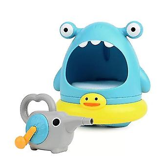 Bath toys outdoor blowing bubble cute cartoon shark swimming bathtub soap machine toy for children baby