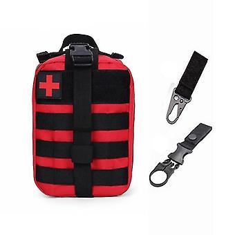 Bolsa médica táctica de primeros auxilios del sistema Molle para emergencias (A-red Bag And 2 Hook)
