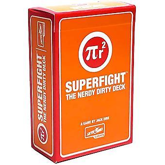Superfight Nerdy Dirty Deck : 100 utvidelseskort for spillet absurde argumenter | Festspill for voksne, 3 eller flere spillere, 18 år