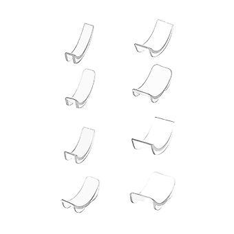 Sæt 8pcs Ring Re-sizer 8 størrelser Silikone Usynlig Ring Size Adjuster Reducer