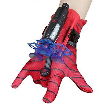 Spiderman Launcher Handschuh, Kinder Plastik Cosplay Handschuh Hero Launcher Handgelenk Spielzeug Set Tolles Geschenk