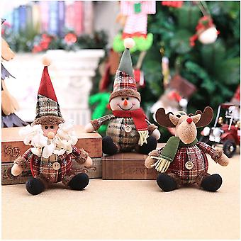 3pcs Santa Claus Christmas Dolls, Merry Christmas Home Decorations, Christmas Tree Ornaments