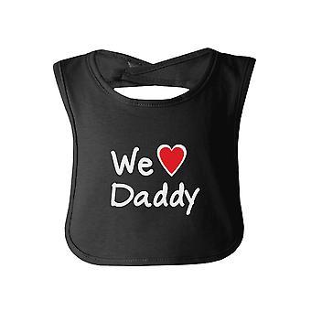 نحن نحب أبي الأسود تصميم مضحك طفل مريلة طفل لطيف دش الهدايا