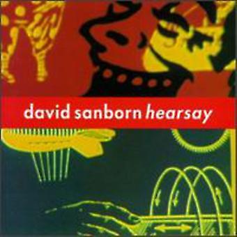 David Sanborn - Hearsay [CD] USA import
