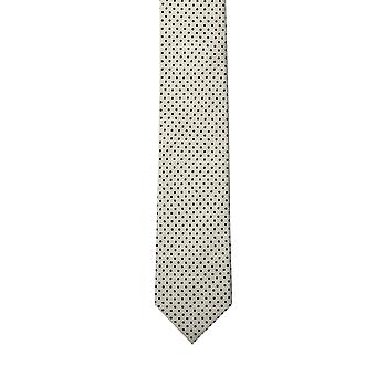 Knightsbridge White Pin Dot Skinny Silk Tie