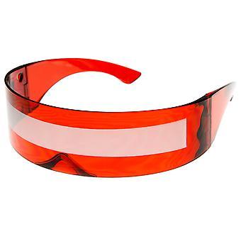 Futuristische Monoblock Daft Punk-Wrap Shield Sonnenbrillen