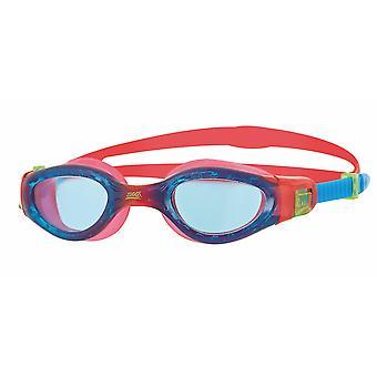Zoggs Phantom Elite Junior Swim Goggle - Tinted Lens - Red/Blue