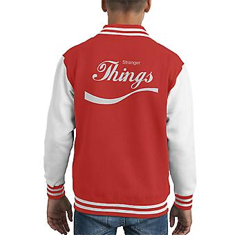 Stranger Things Coca Cola Kid's Varsity Jacket