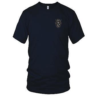US Army Forces spéciales - 12ème groupe Crest OD vert noir 12 Patch brodé - Mens T Shirt