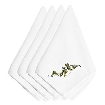 Carolines tesoros EMBT3820NPKE caída hiedra bordados servilletas juego de 4