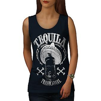 Tequila Traditional Women NavyTank Top | Wellcoda