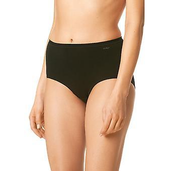 Mey 89021-3 kobiet czarny jednolity kolor pełny spodnie Highwaist krótkie