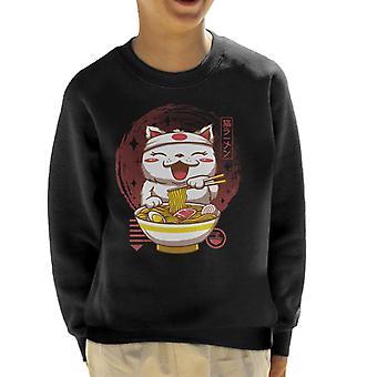 Chibi Neko Ramen Kid's Sweatshirt