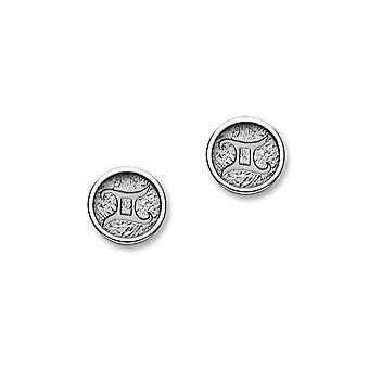 Sterling Silver Traditional Contemporary Astrology Zodiac Sign Design Pair of Earrings - E1847