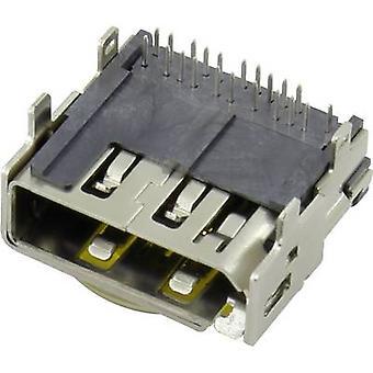 Conrad Komponenten HDMI-Anschluss-Buchse, horizontale Halterung Anzahl der Pins: 19 1 PC