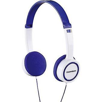 Thomson HED1105BL On-Ear-Kinderkopfhörer Children On-ear headphones On-ear Volume limiter, Light-weight headband White, Blue