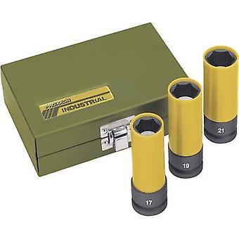 PROXXON Industrial impacto 1/2 23 938 Hex cabeça Kraft bit conjunto 3 peças 1/2 (12,5 mm)