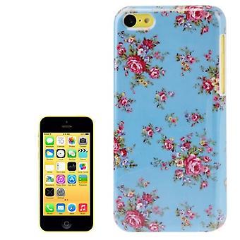 Dække hårdt etui til Apple iPhone 5 c blomst