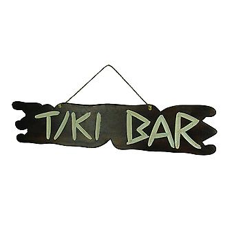 Hand Carved Wood Primitive Tiki Bar Sign Wall Hanging