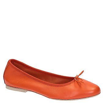 Ballet en cuir orange douce ou plus chaussures ballerines