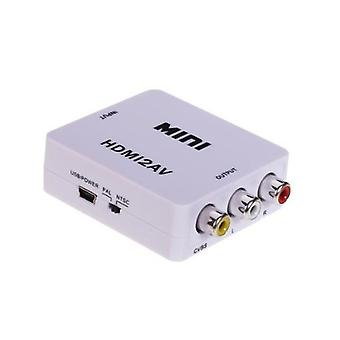 HDMI to AV Adapter-(3x RCA) NTSC/PAL compatible-white
