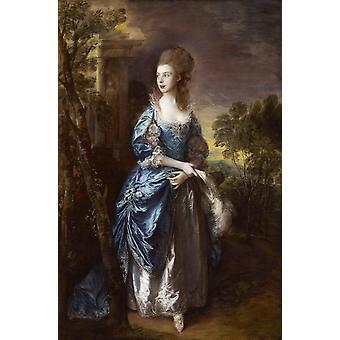 Die Hon. Frances Duncombe, Thomas Gainsborough, 60x40cm
