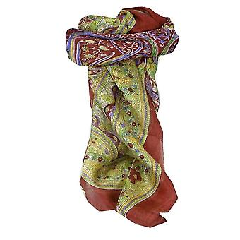 Mulberry Szal jedwabny kwadratowych tradycyjnych Penner Rose przez Pashmina & Silk