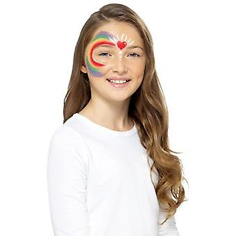Rainbow barn makeup gjøre opp FX Carnival Schminke Rainbow ansiktet maling