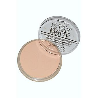 Rimmel London Stay Matte Powder Lightweight Mattifying 14g Warm Beige (006)