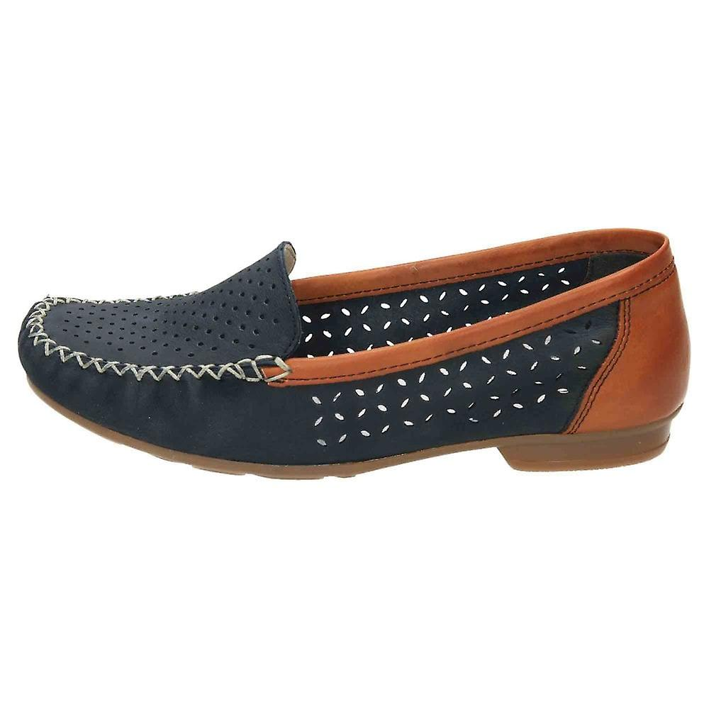 Rieker Slip On Moccasin Leather Loafer Shoes 40086-14