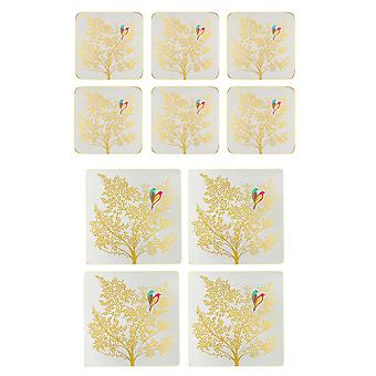 Sara Miller Chelsea Gold Leaf Placemats and Coasters Set