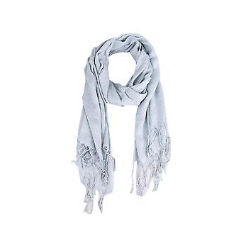 Lovemystyle zilver lichtgewicht sjaal met franje Detail