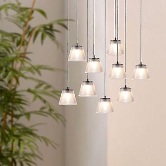 Brillcool Orion Nickel Nine Pendant  Round Canopy