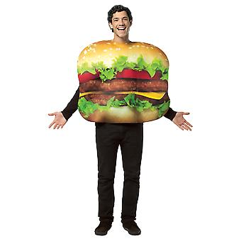 Adult Burger Food Novelty Funny Fancy Dress Costume