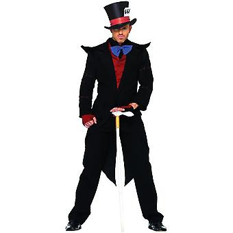 Sort Mad Hatter voksen kostume
