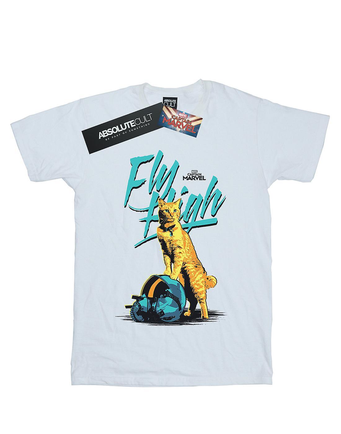 Marvel Women's Captain Marvel Fly High Boyfriend Fit T-Shirt