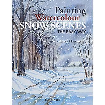 Maleri akvarell snø scener det lett vei av Terry Harrison - 978