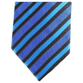 Knightsbridge Neckwear rayure diagonale régulière Polyester Tie - bleu/noir