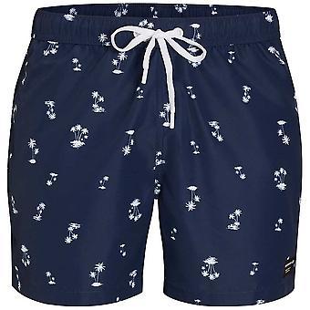 Bjorn Borg L.A. Mini Palms Print Swim Shorts, Insignia Blue