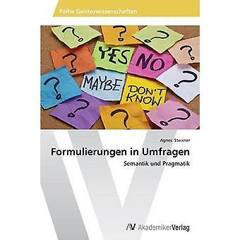Formulierungen vuonna Umfragen mennessä Steixner Agnes