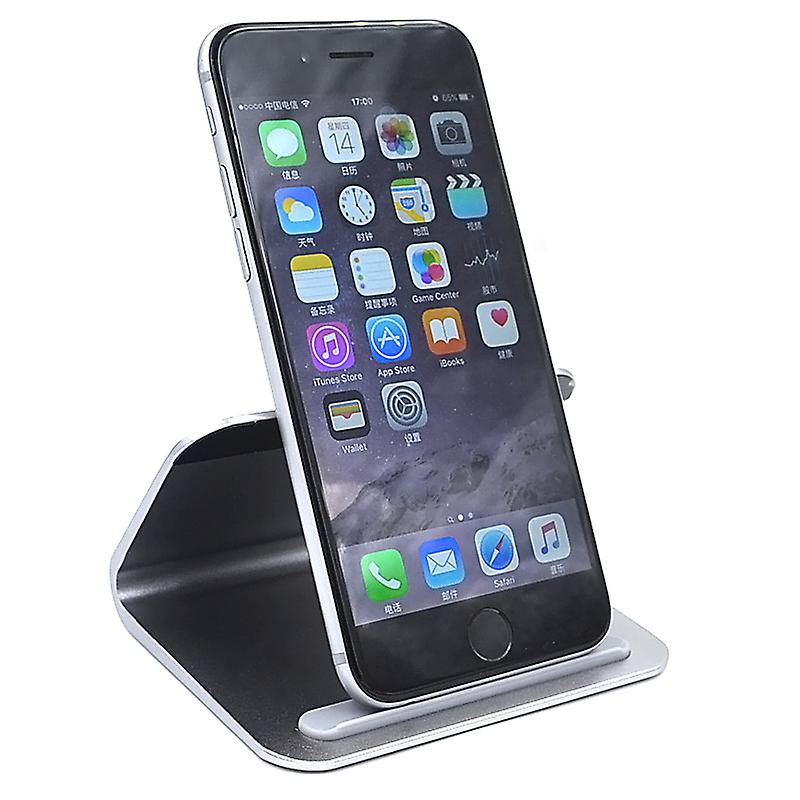 Universal Metal Phone Holder Stand - Compatible with iPhone and Android Smartphones - Desktop Mount Mobile Phone Portable Cradle - Dark Grey