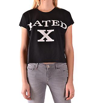 Jeremy Scott Ezbc142001 Women's Black Cotton T-shirt
