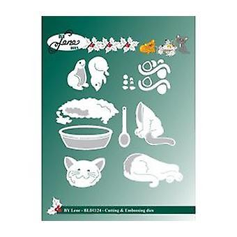 Door Lene Cutting & Embossing Dies Cats & Muizen