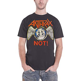 Anthrax T Shirt Not! Wings Band logo new Official Mens Black