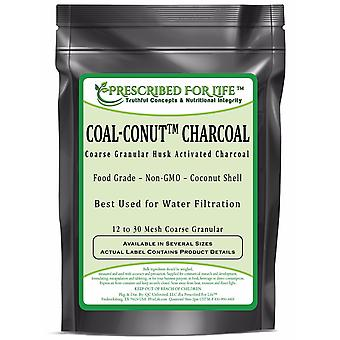 Coal-Conut (TM) - Coarse Granular Husk Activated Coconut Shell Charcoal - Food Grade (12/30 Mesh)