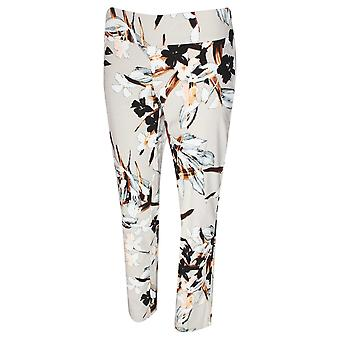 Up! Floral Print Pull On Trousers
