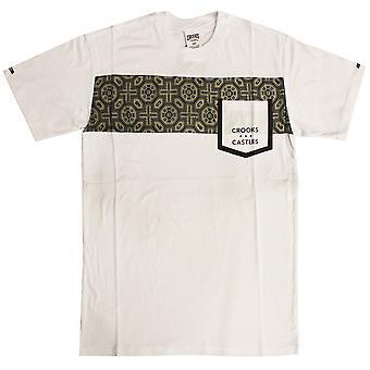 Roistoja & linnoja temppeli tasku t-paita valkoinen