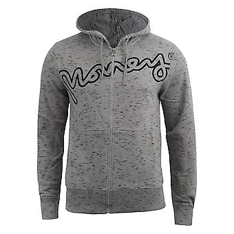 Mens hoodie vêtements argent full zip barney
