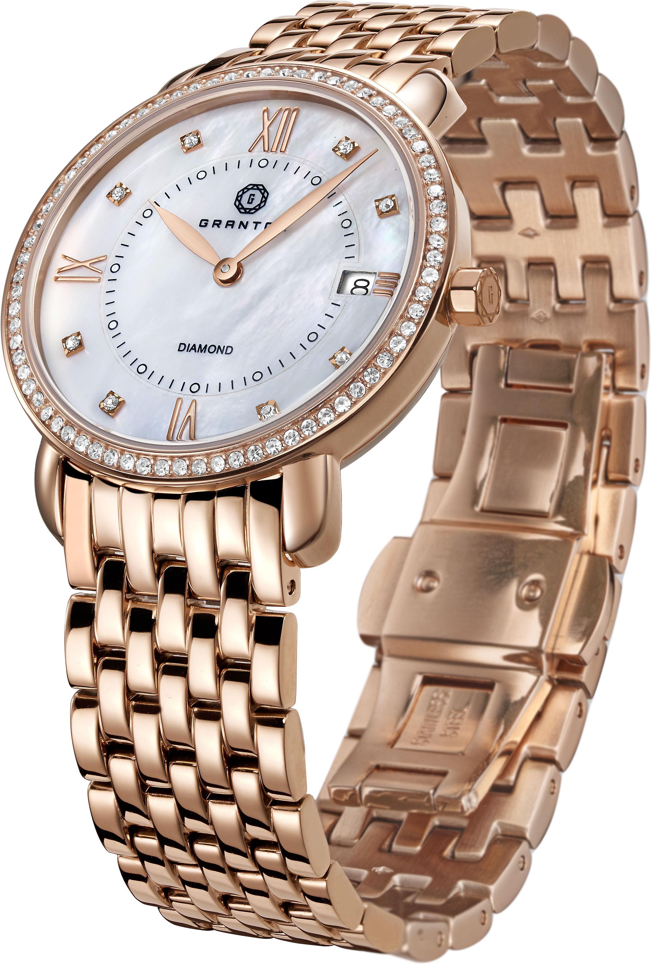 GRANTON - MARQUISE - Women's Watch - White. Rose Gold