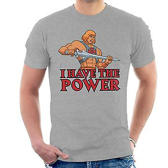 Masters Of The Universe I Have The Power He Man Men's T-Shirt